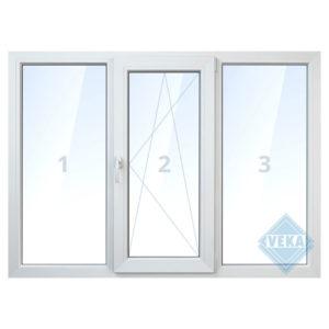 Тройное пластиковое окно - заказать в Ялте