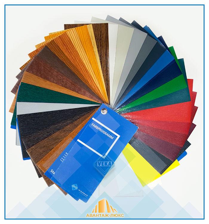 Цвет пластиковых окон - большой выбор ламинатов для окон и дверей пвх VEKA