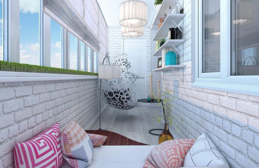 Засткление балкона, дизайн лоджии. Мебель на балкон, отделка лоджии