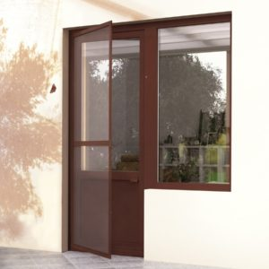 Антимоскитные сетки на двери: москитная сетка является незаменимым аксессуаром металлопластиковых дверей. Сетку можно установить в дверном проеме с возможностью открытия как обычной двери. Это приспособление может быть любого размера и конфигурации. Особого ухода не требует, легко моется и так же легко снимается зимой