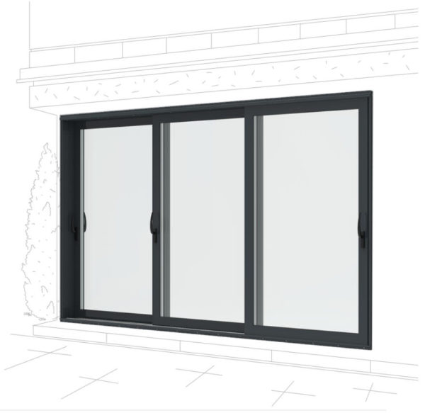Панорамные раздвижные двери алюминиевые