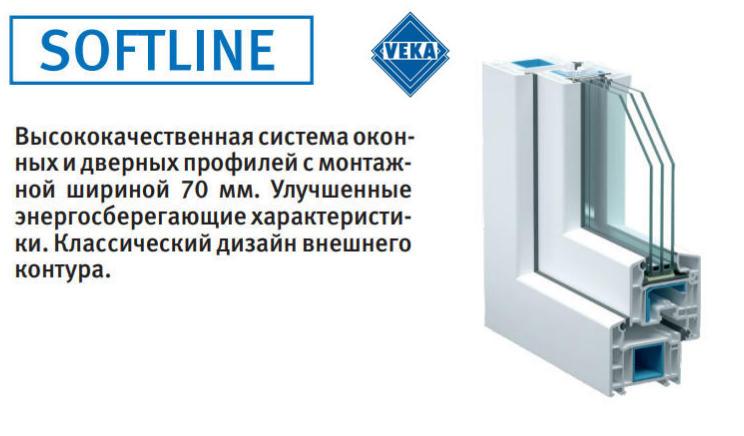 Популярный в Крыму профиль VEKA SOFTLINE для окон и дверей